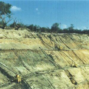 Drenaggio per costruzione diga