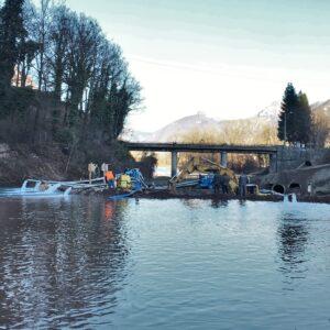 Drenaggio per lavori fluviali