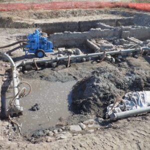 drenaggio per lavori archeologici